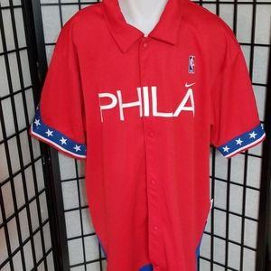 Philadelphia 76ers Phila Nike Warm Up Jersey
